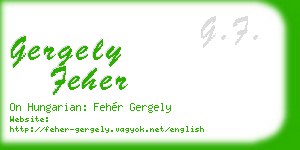 gergely feher business card